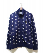 F.C.R.B.×NIKE(エフシーリアルブリストル×ナイキ)の古着「スター柄PDKジャージジャケット」 ネイビー