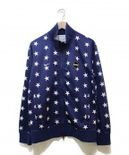 F.C.R.B.×NIKE(エフシーリアルブリストル×ナイキ)の古着「スター柄PDKジャージジャケット」|ネイビー