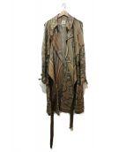 HERMES(エルメス)の古着「シルクトレンチコート」|ベージュ