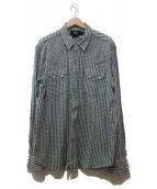()の古着「スナップボタンウエスタンシャツ」 スカイブルー