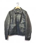 SCHOTT BROS.(ショットブロス)の古着「ネイキッドカウ レザージャケット」|ブラック