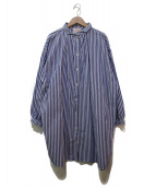 GALLEGO DESPORTES(ギャレゴデスポート)の古着「ロングシャツワンピース」|ネイビー