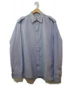 Maison Margiela14(メゾンマルジェラ14)の古着「比翼シャツ」|ネイビー