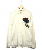 BURBERRY()の古着「アップリケシャツ」|ホワイト