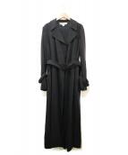 STELLA McCARTNEY(ステラマッカートニー)の古着「リネン混ロングトレンチコート」|ブラック