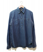 RRL(ダブルアールエル)の古着「リネン混プルオーバーシャツ」|ネイビー