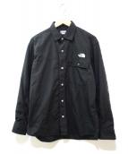 THE NORTH FACE(ザ ノース フェイス)の古着「ロングスリーブヌプシシャツ」|ブラック