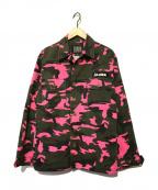 ELVIRA(エルビラ)の古着「ミリタリージャケット」|カーキ×ピンク