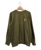 CLUB SAKENOMITAI(クラブサケノミタイ)の古着「刺繍スウェット」 オリーブ