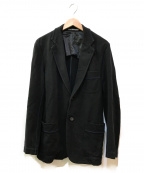 ISSEY MIYAKE MEN()の古着「ブルーステッチテーラードジャケット」|ブラック