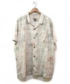 pataloha(パタロハ)の古着「リネンMIXアロハシャツ」|アイボリー