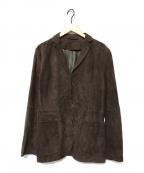 BOSS HUGO BOSS(ボス ヒューゴボス)の古着「羊革レザーテーラードジャケット」|ブラウン