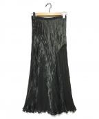 HIROKO KOSHINO(ヒロコ コシノ)の古着「プリーツスカート」|ブラック