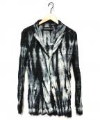 ISSEY MIYAKE MEN()の古着「リバーシブルブリーチ プリーツ加工シャツジャケット」|ブラック×ブルー
