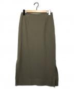 1er Arrondissement(プルミエ アロンディスモン)の古着「スリットタイトスカート」|カーキ