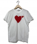 PLAY COMME des GARCONS(プレイコムデギャルソン)の古着「21SSレッドバックロゴハートTシャツ」 ホワイト