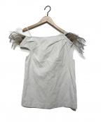 ISA ARFEN(イサ アフェン)の古着「ウィングノースリーブブラウス」|ホワイト