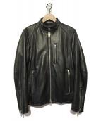 JACKROSE(ジャックローズ)の古着「ラムレザーシングルレザージャケット」|ブラック
