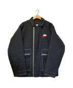 SUPREME×NIKE(シュプリーム×ナイキ)の古着「コラボダブルジップワークジャケット」|ブラック×レッド