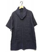 群言堂 登美(グンゲンドウ トミ)の古着「ドット刺繍チュニックブラウス」 インディゴ