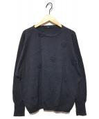 45R(フォーティファイブアール)の古着「華夏花飾りカーディガン」|インディゴ