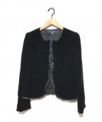 M'S GRACY(エムズグレイシー)の古着「ベロアジャケット」 ブラック