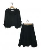 GALLERY VISCONTI(ギャラリービスコンティ)の古着「フリルセットアップ」|ブラック