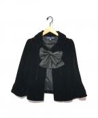 M'S GRACY(エムズグレイシー)の古着「ボウタイベロアジャケット」 ブラック