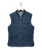 POLO RALPH LAUREN(ポロ・ラルフローレン)の古着「インディゴコットンキルティングベスト」|ブルー