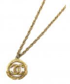 CHANEL()の古着「ヴィンテージココマークロングチェーンネックレス」|ゴールド