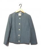 Sally Scott(サリースコット)の古着「ノーカラージャケット」|ブルー