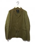 Ys(ワイズ)の古着「袖ジップデザインテーラードジャケット」|オリーブ