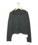 GALLERY VISCONTI(ギャラリービスコンティ)の古着「リボン付きジップパーカー」|ブラック