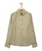 V.W. RED LABEL(ヴィヴィアンウエストウッドレッドレーベル)の古着「オーブボタンギンガムチェックシャツ」|ベージュ