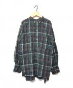 Americana(アメリカーナ)の古着「サイドジップチェックシャツ」|グリーン