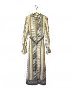 EMMEL REFINES(エメル リファインズ)の古着「パネルプリントワンピース」|ベージュ