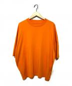STUDIO NICHOLSON(スタジオニコルソン)の古着「ピウオーバーサイズTシャツ」|オレンジ