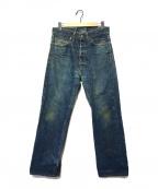 TENDERLOIN(テンダーロイン)の古着「シンチバックベルトデニムパンツ」|インディゴ