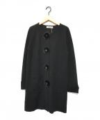 GALLERY VISCONTI(ギャラリービスコンティ)の古着「ラクーンファー付きニットコート」|ブラック