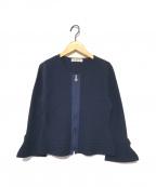 GALLERY VISCONTI(ギャラリービスコンティ)の古着「ジップアップニットジャケット」|ネイビー