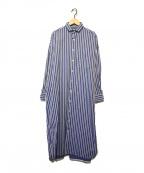 ticca(ティッカ)の古着「スクエアビッグロングシャツ」 ブルー