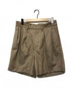 KOLOR(カラー)の古着「タックワイドハーフパンツ」|ベージュ