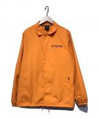 HUF(ハフ)の古着「バックロゴコーチジャケット」 オレンジ