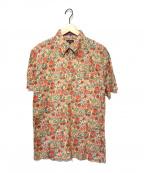 Paul Smith COLLECTION(ポールスミスコレクション)の古着「S/Sフラワープリントシャツ」 レッド×グリーン