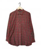 COMME des GARCONS HommePlus(コムデギャルソン オムプリュス)の古着「チェックシャツ」|レッド×グリーン