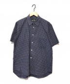 COMME des GARCONS HommePlus(コムデギャルソン オムプリュス)の古着「S/Sドット柄シャツ」|ネイビー