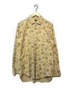 ()の古着「90sバラプリントコットンシャツ」|ベージュ