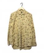COMME des GARCONS HommePlus(コムデギャルソン オムプリュス)の古着「90sバラプリントコットンシャツ」|ベージュ