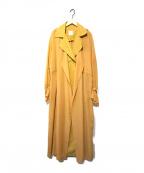 Ameri(アメリ)の古着「シースルートレンチコート」|イエロー