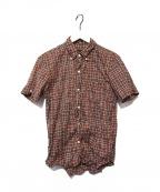 NUMBER (N)INE(ナンバーナイン)の古着「ワイヤー入りチェックシャツ」 レッド×ブラック